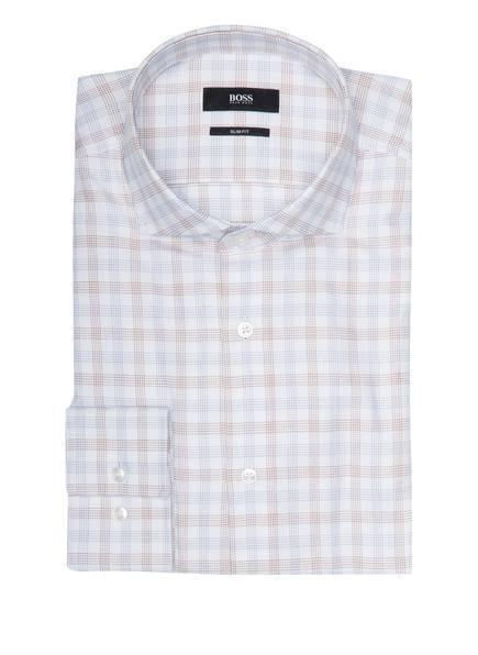 BOSS Hemd JASON Slim Fit, Farbe: BRAUN/ WEISS (Bild 1)