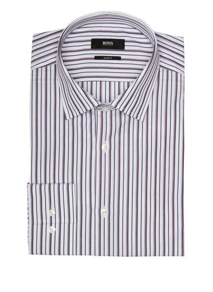 BOSS Hemd JENNO Slim Fit, Farbe: BRAUN/ BLAU/ WEISS  (Bild 1)