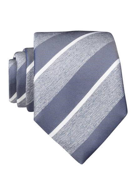 BOSS Krawatte, Farbe: GRAU/ BLAU/ WEISS GESTREIFT (Bild 1)