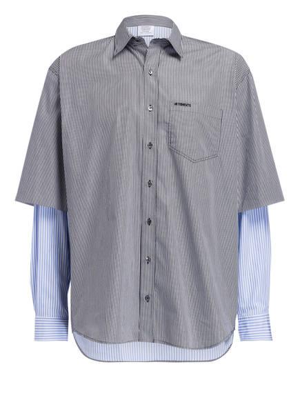 VETEMENTS Oversized-Hemd FUSION Comfort Fit, Farbe: HELLBLAU/ WEISS/ GRAU (Bild 1)