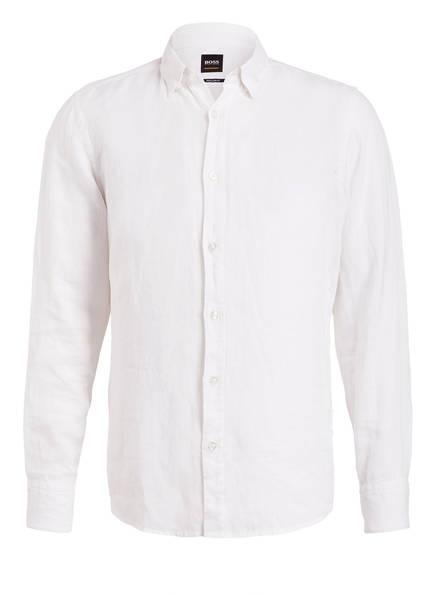 BOSS Leinenhemd RELEGANT Regular Fit, Farbe: WEISS (Bild 1)