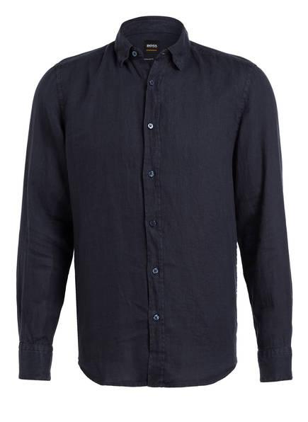 BOSS Leinenhemd RELEGANT Regular Fit, Farbe: DUNKELBLAU (Bild 1)