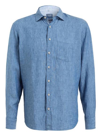 OLYMP Leinenhemd Casual modern fit, Farbe: BLAU (Bild 1)