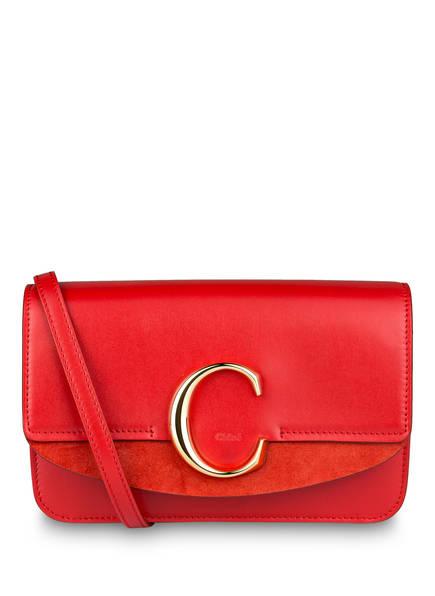 Chloé Umhängetasche C MINI , Farbe: PLAID RED (Bild 1)