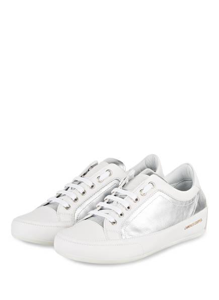 Candice Cooper Sneaker ROCK DELUXE, Farbe: SILBER/ WEISS (Bild 1)
