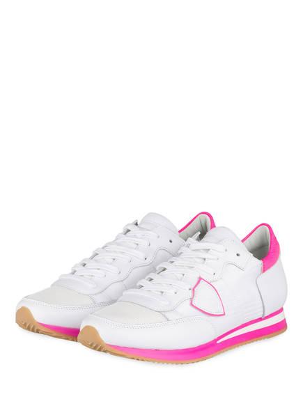 PHILIPPE MODEL Sneaker TROPEZ, Farbe: WEISS/ NEONPINK (Bild 1)