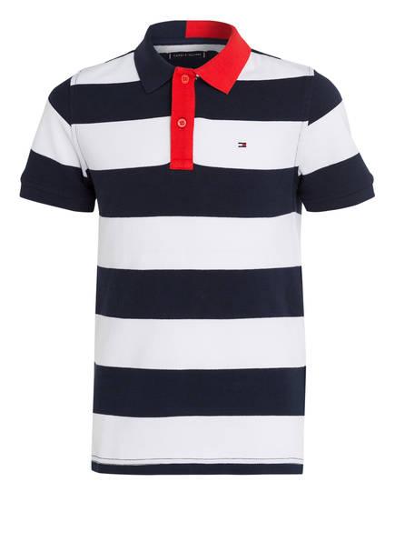 TOMMY HILFIGER Poloshirt, Farbe: NAVY/ WEISS GESTREIFT (Bild 1)