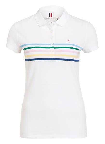 TOMMY HILFIGER Piqué-Poloshirt, Farbe: WEISS (Bild 1)