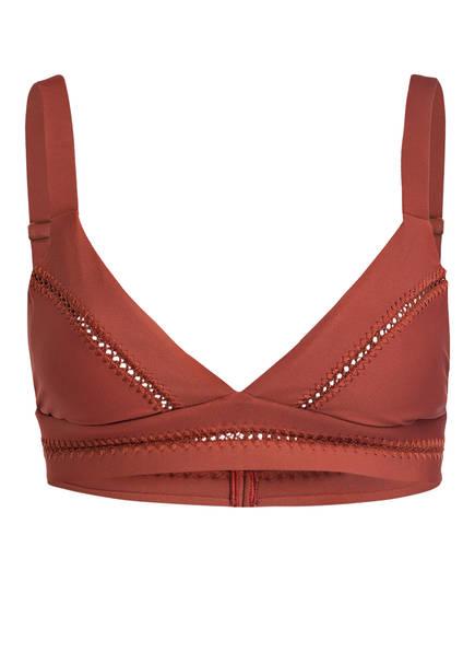 PILYQ Triangel-Bikini-Top ELLIE, Farbe: BRAUN (Bild 1)