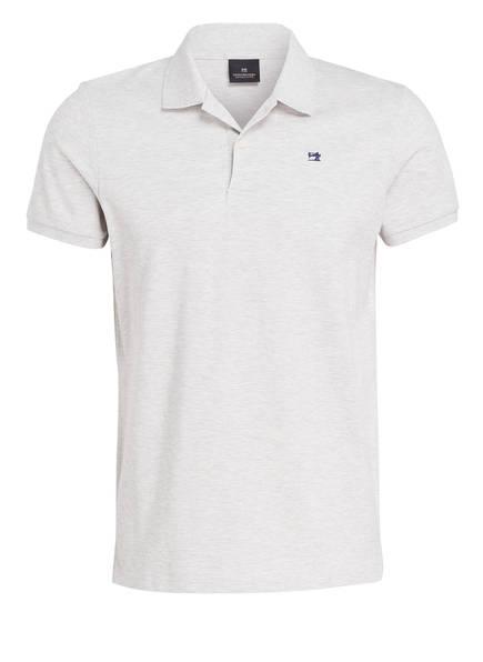 SCOTCH & SODA Piqué-Poloshirt, Farbe: HELLGRAU MELIERT (Bild 1)