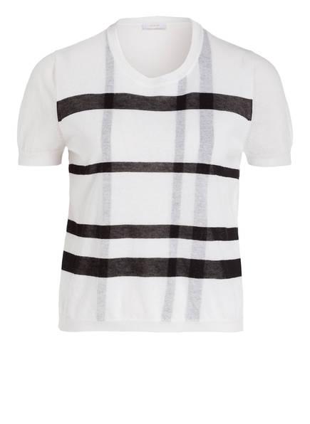 RIANI Kurzarm-Pullover, Farbe: WEISS/ SCHWARZ (Bild 1)