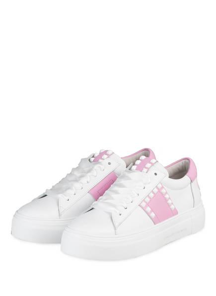 KENNEL & SCHMENGER Plateau-Sneaker BIG, Farbe: WEISS/ ROSA (Bild 1)