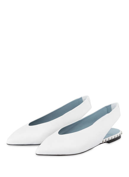 KENNEL & SCHMENGER Sling-Ballerinas, Farbe: WEISS (Bild 1)