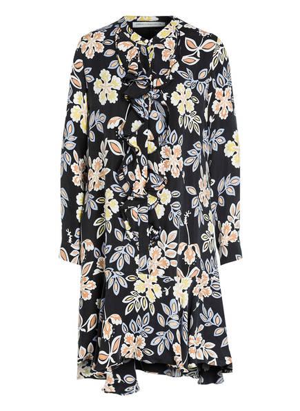 ROQA Kleid mit Volants, Farbe: SCHWARZ/ WEISS/ GELB (Bild 1)