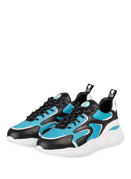 LEANDRO LOPES Sneaker CRAFTER, Farbe: TÜRKIS/ SCHWARZ (Bild 1)