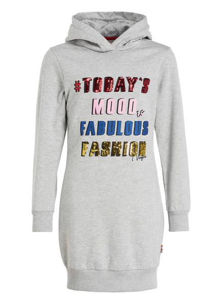 VINGINO Sweatkleid mit Paillettenbesatz, Farbe: GRAU MELIERT (Bild 1)
