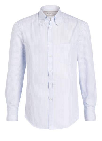 BRUNELLO CUCINELLI Hemd Slim Fit, Farbe: HELLBLAU/ WEISS GESTREIFT (Bild 1)