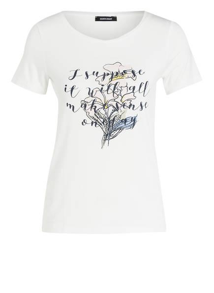 MORE & MORE T-Shirt mit Strasssteinbesatz, Farbe: OFFWHITE (Bild 1)
