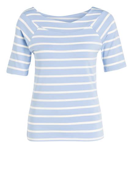 MORE & MORE T-Shirt, Farbe: HELLBLAU/ WEISS GESTREIFT (Bild 1)