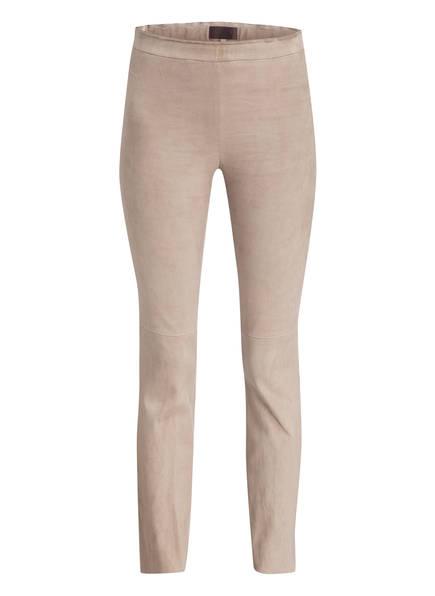 STOULS Velours-Lederhose LARRY, Farbe: HELLGRAU (Bild 1)