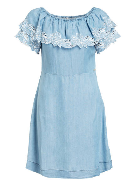 Pepe Jeans Off-Shoulder-Kleid TATI, Farbe: HELLBLAU (Bild 1)