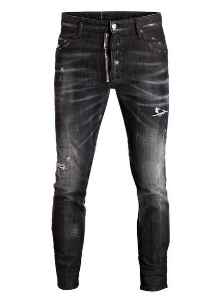 DSQUARED2 Destroyed-Jeans DAN, Farbe: SCHWARZ/ GRAU (Bild 1)