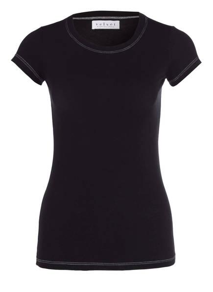 velvet T-Shirt GAUZY, Farbe: SCHWARZ (Bild 1)