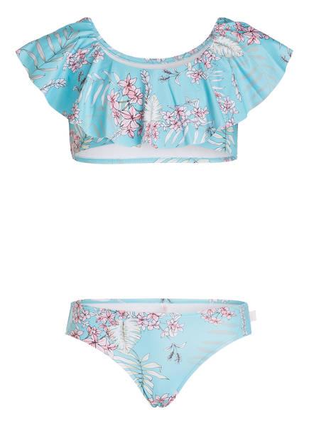 SEAFOLLY Bustier-Bikini TAHITIAN SKIES , Farbe: TÜRKIS / ROSA (Bild 1)