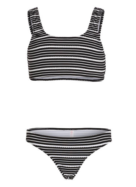 SEAFOLLY Bustier-Bikini TAHITIAN SKIES , Farbe: SCHWARZ/ WEISS (Bild 1)
