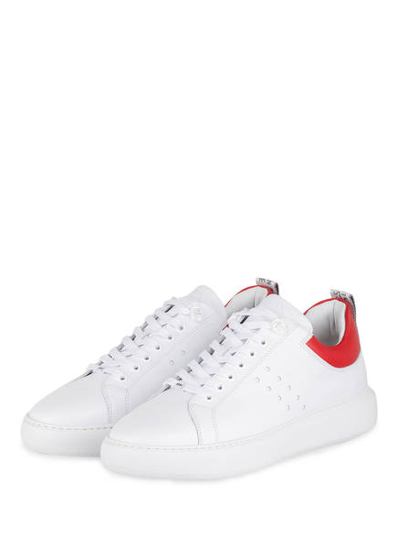 NUBIKK Sneaker SCOTT, Farbe: WEISS/ ROT (Bild 1)