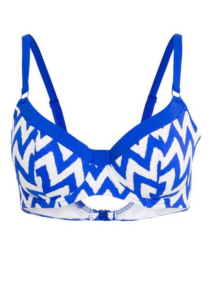 Freya Bügel-Bikini-Top MAKING WAVES, Farbe: BLAU/ WEISS (Bild 1)