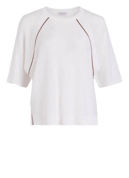 BRUNELLO CUCINELLI Strickshirt aus Leinen, Farbe: WEISS (Bild 1)