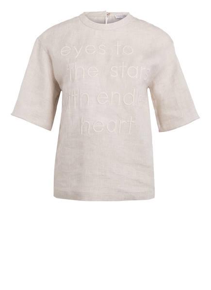 BRUNELLO CUCINELLI T-Shirt aus Leinen, Farbe: SAND (Bild 1)
