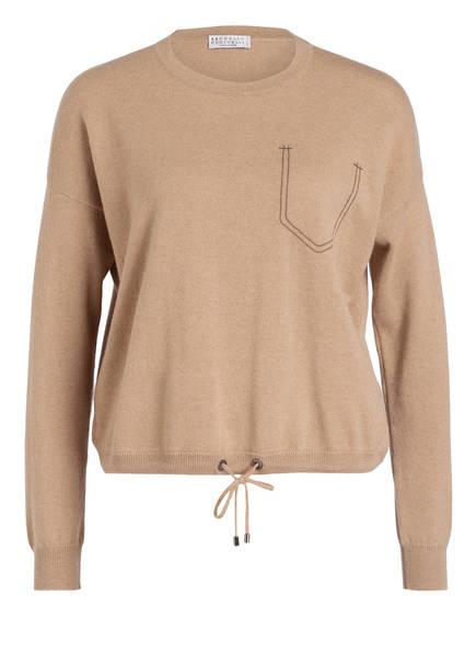 BRUNELLO CUCINELLI Cahmere-Pullover , Farbe: BEIGE (Bild 1)