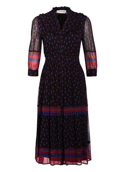 ba&sh Kleid BARIE, Farbe: SCHWARZ/ ROT/ BLAU (Bild 1)