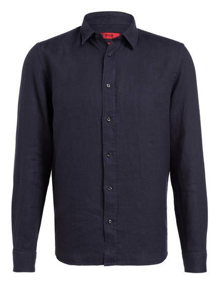 HUGO Leinenhemd EVART Straight Fit , Farbe: DUNKELBLAU (Bild 1)
