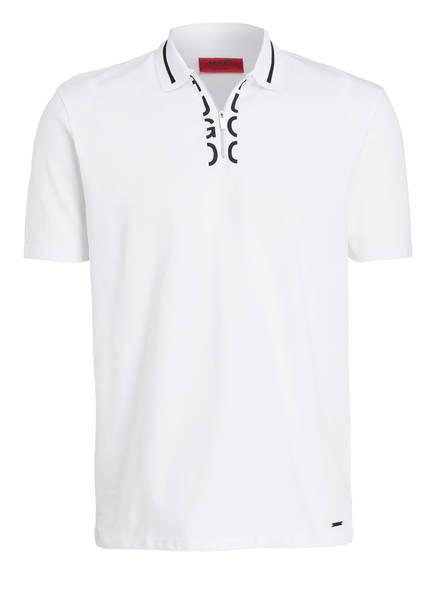 HUGO Piqué-Poloshirt DOLMAR, Farbe: WEISS (Bild 1)
