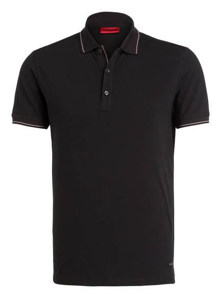 HUGO Piqué-Poloshirt DINOSO Slim Fit, Farbe: SCHWARZ (Bild 1)