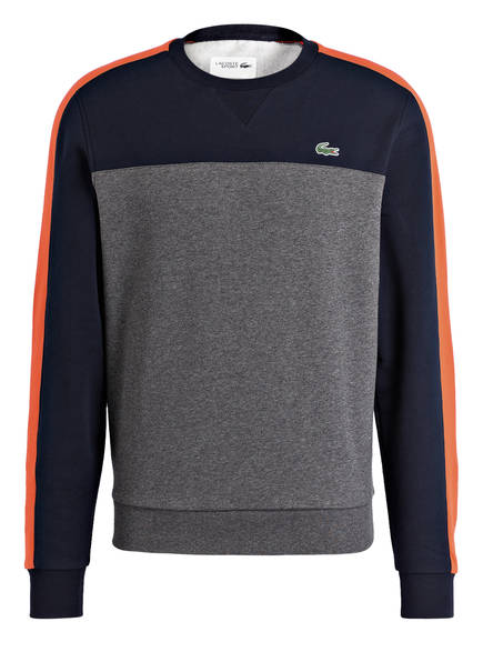LACOSTE Pullover , Farbe: GRAU/ NAVY/ ORANGE (Bild 1)