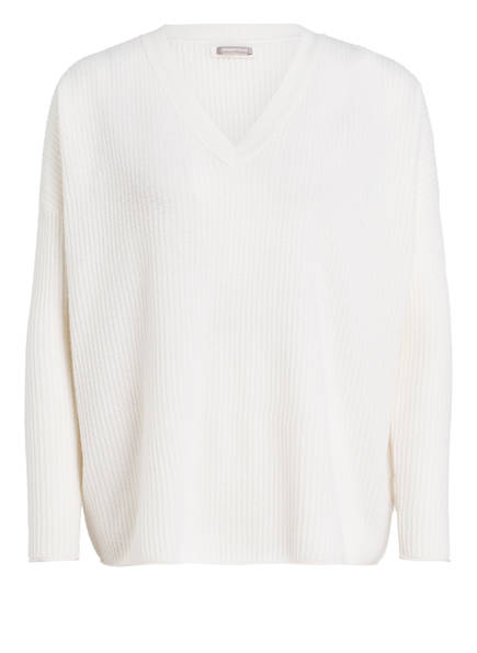 HEMISPHERE Cashmere-Pullover, Farbe: WEISS (Bild 1)