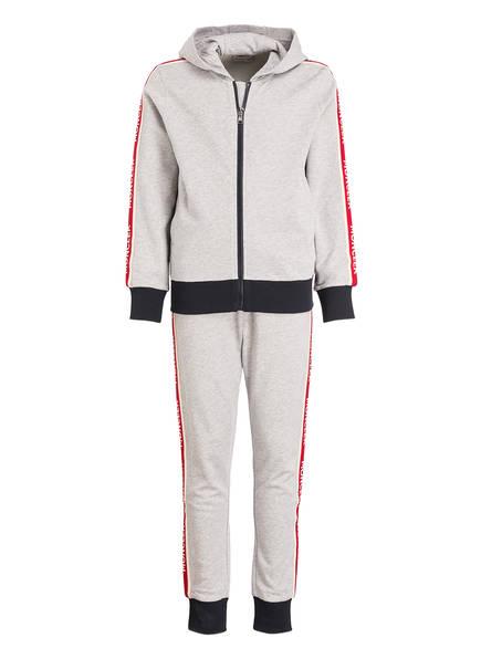 MONCLER Set: Sweatjacke und Sweatpants, Farbe: GRAU MELIERT (Bild 1)