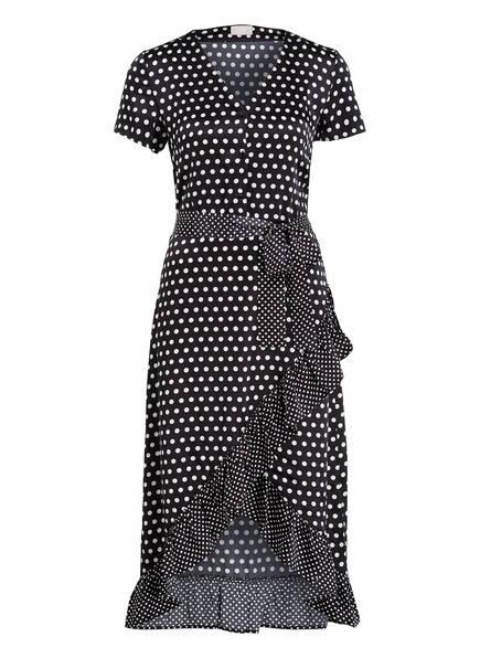 Mrs & HUGS Seidenkleid mit Volants, Farbe: SCHWARZ (Bild 1)