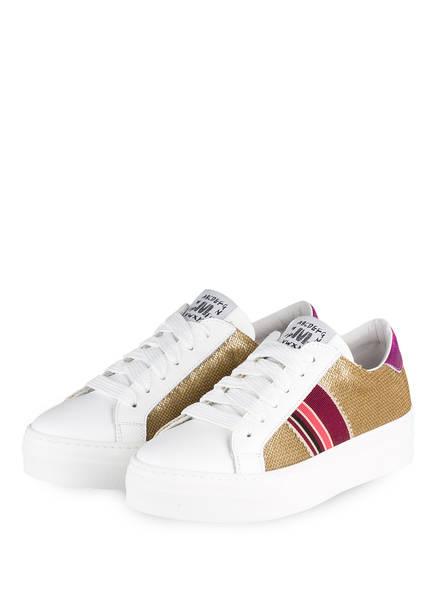MÉLINÉ Sneaker , Farbe: WEISS/ GOLD/ PINK (Bild 1)