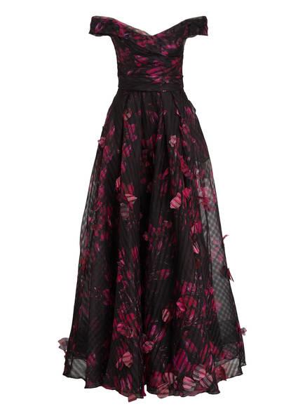 MARCHESA NOTTE Abendkleid, Farbe: SCHWARZ/ PINK (Bild 1)