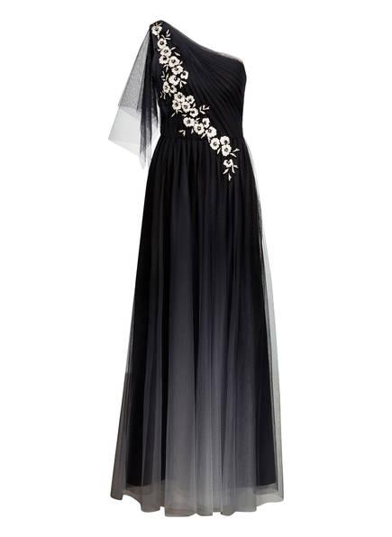 MARCHESA NOTTE One-Shoulder-Kleid, Farbe: SCHWARZ/ GRAU (Bild 1)
