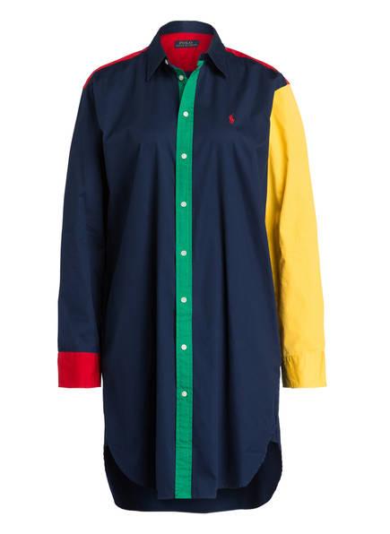 POLO RALPH LAUREN Hemdblusenkleid, Farbe: DUNKELBLAU/ GELB/ ROT (Bild 1)