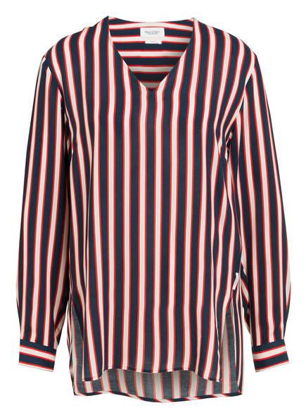 Marc O'Polo DENIM Bluse, Farbe: DUNKELBLAU/ HELLROSA/ ROT (Bild 1)