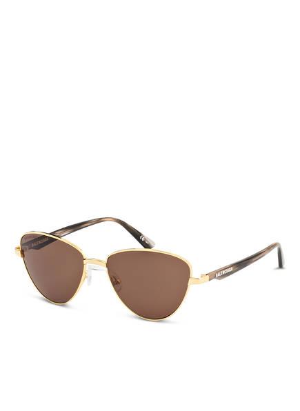 BALENCIAGA Sonnenbrille BB0011S, Farbe: 002 - GOLD/ BRAUN (Bild 1)