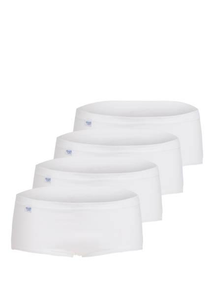 sloggi 4er-Pack Panties BASIC+, Farbe: WEISS (Bild 1)