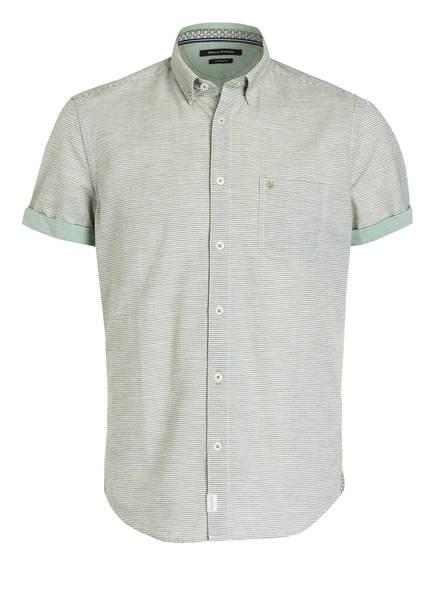 Marc O'Polo Halbarm-Hemd Regular Fit, Farbe: GRÜN/ WEISS GESTREIFT (Bild 1)